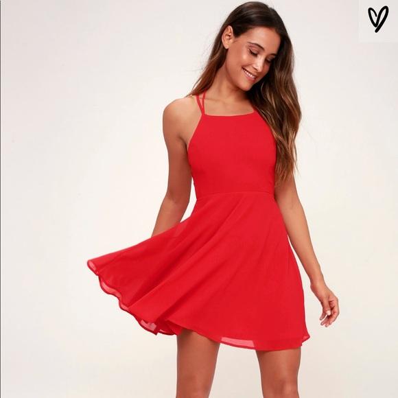c1a00e7c400b Lulu's Dresses | Red Homecoming Dress | Poshmark